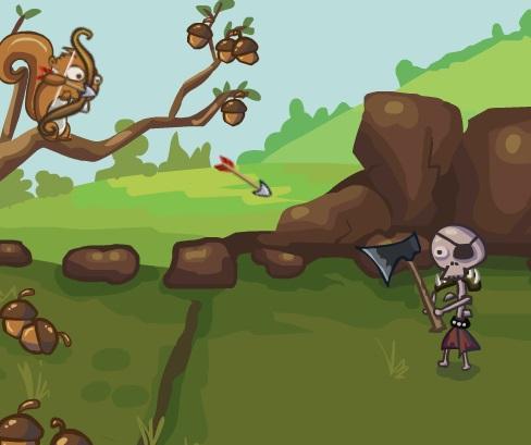 Игра Defend your Nuts онлайн