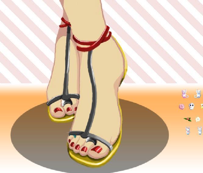 Игра Fashion Toes онлайн