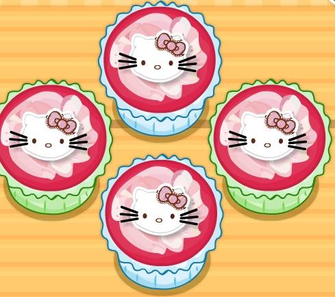 Игра Hello Kitty Apples And Banana Cupcakes онлайн