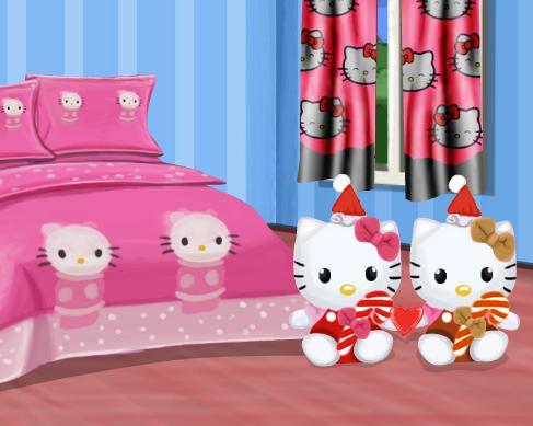 Игра Hello Kitty Bedroom онлайн