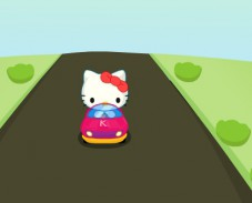 Игра Hello Kitty Car Race онлайн