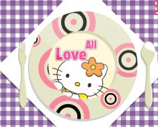 Игра Hello Kitty Dinner Plate онлайн