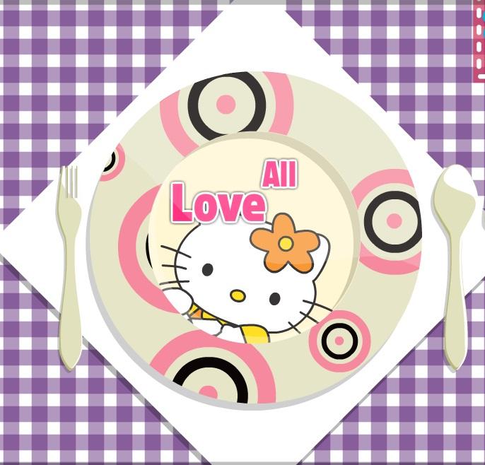 Игра Hello Kitty Dinner Plate онлайн