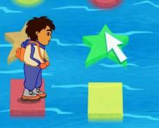 Игра Диего прыгает по льдинам онлайн
