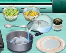 Игра Кухня Сары: куриный суп с клецками онлайн