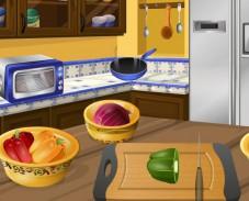 Игра Кухня Сары: лепешки с курицей онлайн