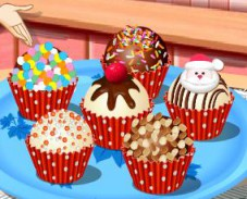 Игра Кухня Сары: новогодние кексы онлайн