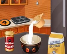 Игра Кухня Сары кексы на Хэллоуин онлайн