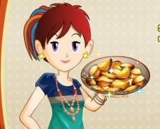 Игра Кухня Сары: жаренный картофель онлайн