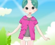 Игра Летняя одевалка аниме онлайн