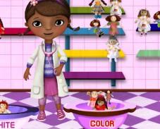 Игра Доктор Плюшева стирает игрушки онлайн