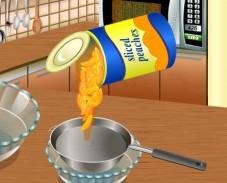 Игра Кухня Сары: персиковый десерт онлайн