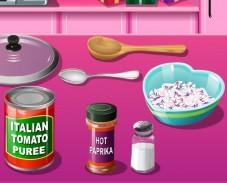 Игра Кухня Сары: пицца на день влюбленных онлайн