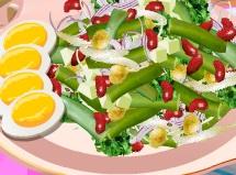 Игра Кухня Сары: салат из фасоли онлайн