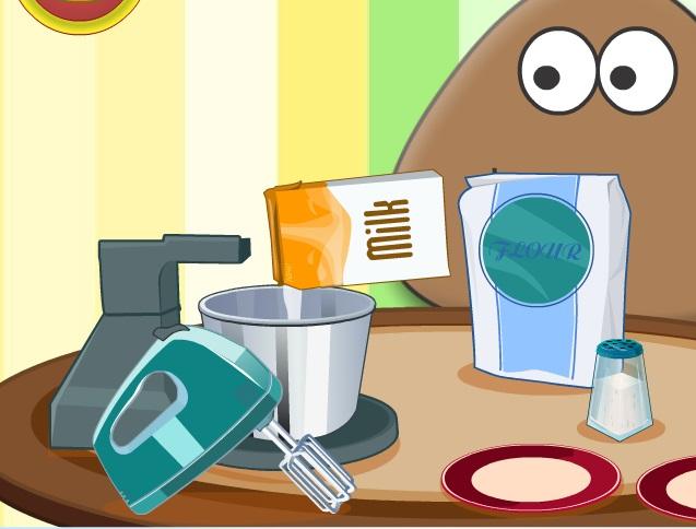 Игра Поу готовит торт - играй онлайн