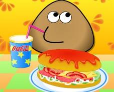 Игра Поу готовит хот-дог онлайн