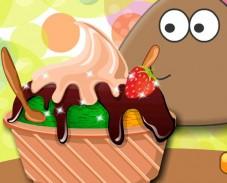 Игра Поу ест мороженое онлайн