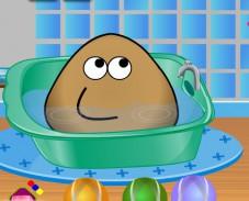 Игра Поу принимает ванну онлайн