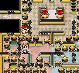 Игра Бургер пакман онлайн