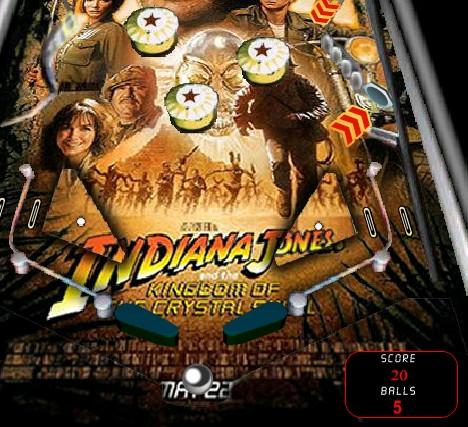 Игра Пинбол Индианы онлайн