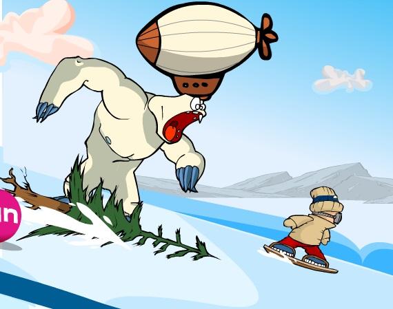 Игра Monster Snowboard онлайн