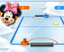 Игра Микки аэрохоккей онлайн