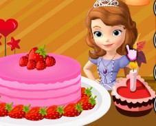 Игра София украшает торт онлайн