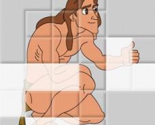 Игра Тарзан простой пазл онлайн