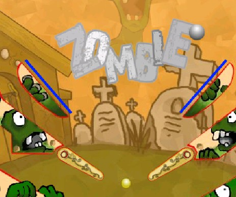 Игра Zombie vs pinball онлайн