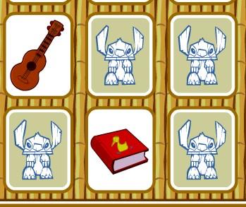 Игра Лило и Стич карты на память онлайн