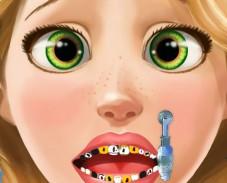 Игра Рапунцель у зубного онлайн