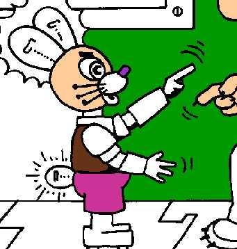 Игра Раскраска заяц-робот - играй онлайн
