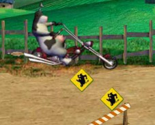 Игра Рога и Копыта на мотоцикле онлайн