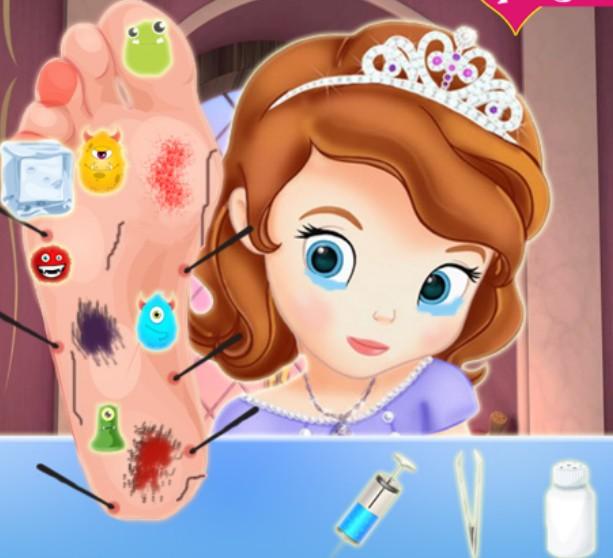 Игра София Прекрасная лечим ногу онлайн