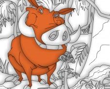 Игра Тимон и Пумпба раскраски онлайн