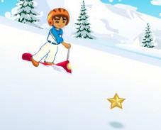 Игра Диего на лыжном скутере онлайн