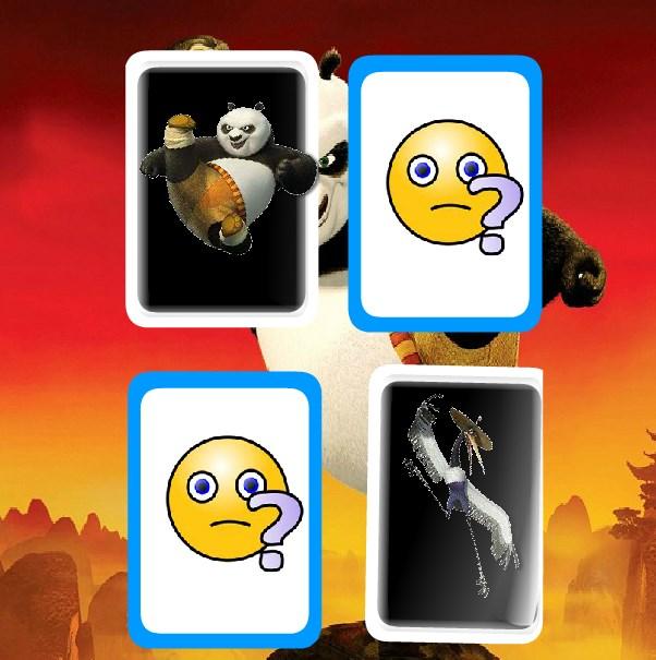 Игра Кунг-фу Панда карты на память онлайн