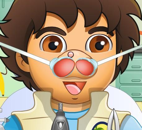 Игра Лечим нос Диего онлайн