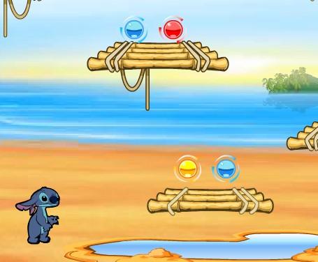 Игра Лило и Стич собери шары онлайн