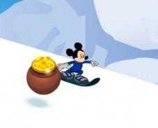 Игра Микки Маус на сноуборде онлайн