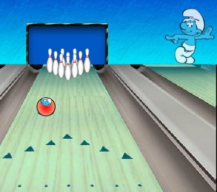 Игра Смурфики боулинг онлайн