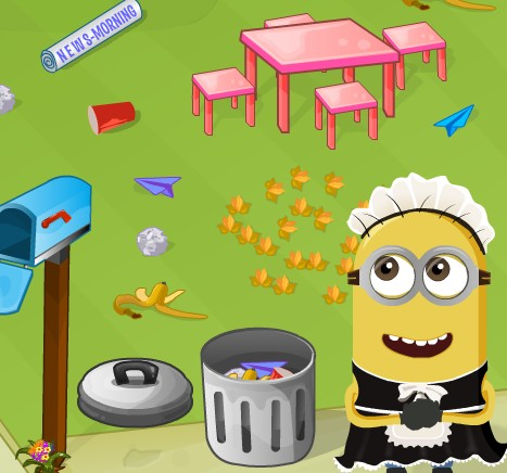 Игра Уборка с Миньоном онлайн