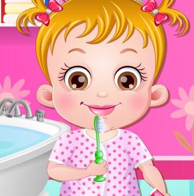 Игра Хейзел чистит зубы онлайн
