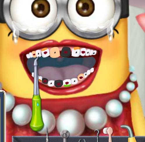 Игра Больные зубы миньона онлайн