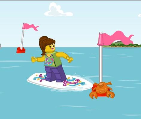 Игра Лего серфинг онлайн