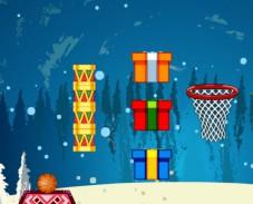 Игра Новогодний баскетбол онлайн