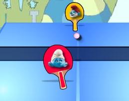 Игра Смурфики пинг-понг онлайн