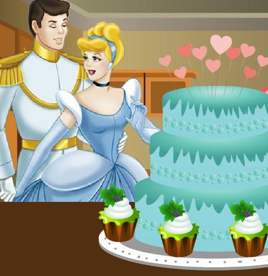 Игра Торт на свадьбу Золушки онлайн
