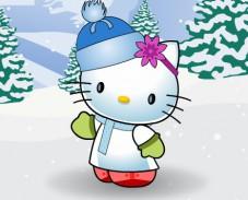 Игра Хэлло Китти зимой онлайн