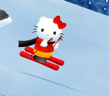 Игра Хэлло Китти на лыжах онлайн